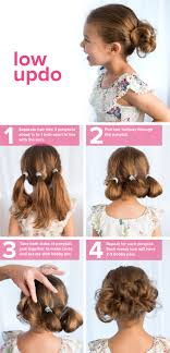 5 Minute Hairstyles For Girls 5 Fast Easy Cute Hairstyles For Girls Low Updo Updo And Kids S