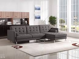 Tufted Living Room Furniture Diamond Sofa Chocolate Opus Convertible Tufted Rf Chaise Sectional
