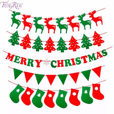 merry christmas banner. Unique Christmas FENGRISE Merry Christmas Banner Reindeer Socks Xmas Tree Flags Happy New  Year 2018 Decorations Photo To