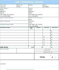 Free Download Sample 19 Commercial Invoice Template Dhl - Enhance ...
