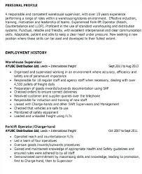 Sample Resume For Warehouse Supervisor Warehouse Supervisor Resume Amazing Warehouse Supervisor Resume