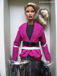 fashion royalty nu face electric enthusiasm dominique makeda doll  fashion royalty nu face electric enthusiasm dominique makeda doll nrfb