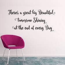 Big Is Beautiful Quotes Best of Wall Decal Quotes There`s A Great Big Beautifulart Quote