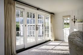 elegant white and gold sliding glass door curtains living room ideas