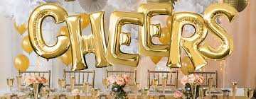directory banner letter balloons gold