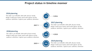 Project Status Slide Editable Project Timeline Powerpoint