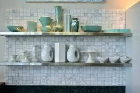 Stainless Floating Shelves Stunning Stainless Steel Kitchen Shelf Dobaebacsa