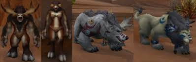 Troll Druid Color Chart Highmountain Tauren Druid Forms Tumblr
