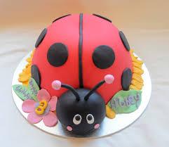 lady bug party cake