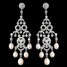 pearl chandeliert crystal and bridal earrings motherting clear pendant