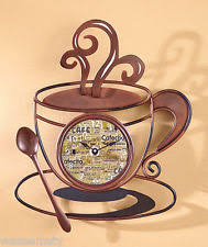 Small Picture Coffee Kitchen Clock eBay