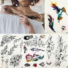 Fanrui подвеска струна перо листья временная татуировка стикер боди
