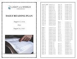 Light Of The World Church Minisink Hills Pa Daily Bible