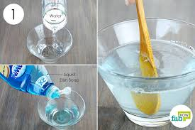 super glue from eyeglasses mix the dish soap with water to prepare the cleaning
