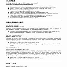 Construction Professional Laborer Resume Examples Highlights Summary ...