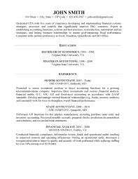 State Auditor Sample Resume Simple CPA Resume