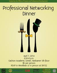 professional networking dinner career corner etiquettedinner flyer 2