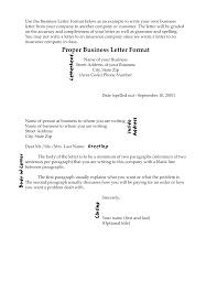 Cover Letter 50 Proper Letter Formats Proper Business Letter