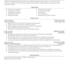 Sample Security Officer Resume Security Officer Resume Template Security Guard Resume Template