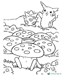 In the fictional world trainers of pokemons train the monsters for battles with pokemons of other trainers. Pokemon Coloring Pages
