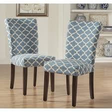Parsons Pattern Dining Chair Wood (Set of 2) - HomePop