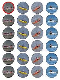 x canoeing kayaking birthday cup cake toppers decorations x24 1 5 quot canoeing kayaking birthday cup cake toppers decorations on edible wafer
