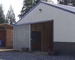 exterior sliding barn doors. Steel Sliding Door Installed In A Shop, Barn Doors Exterior R