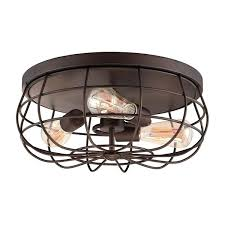 wire cage string lights flush mount light three bulb ceiling from fixtures security flood light wire cage