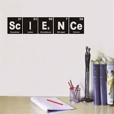 science vinyl wall decals art decor