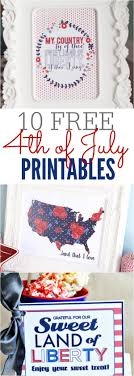 4th of July Printables - 10 Patriotic Printables to Decorate your Home for  less
