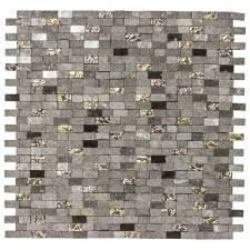 jeffrey court mystical mini brick 12 75 in x 12 125 in x 8 mm glass