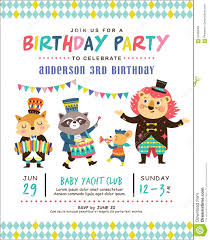Kids Birthday Invitation Card Stock Vector Illustration Of Show