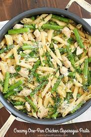 healthy chicken pasta recipes. Perfect Chicken Creamy OnePot Chicken Asparagus Pasta Cooked In A Creamy Sauce And Cooked  From In Healthy Pasta Recipes G