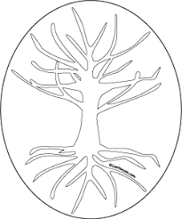 Small Picture Tree of Life Design Coloring Page Art Template