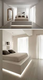 lighting for bedrooms. 9 Bedrooms With Beds That Feature Hidden Lighting // A Strip Of LED Lights Under This Bed Frame Makes The Appear To Float. For