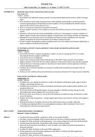 Strategic Sourcing Specialist Resume Samples Velvet Jobs