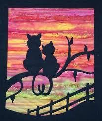 Best 25+ Cat quilt patterns ideas on Pinterest | Cat quilt ... & PATCHWORK-QUILTING-APPLIQUE-CAT-WALL-HANGING-SEWING-PATTERN Adamdwight.com
