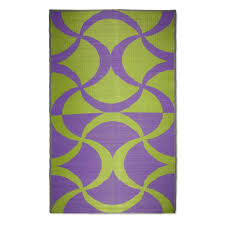 koko company waves indoor outdoor area rug green purple purple outdoor rug