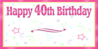 custom happy birthday banner custom happy 40th birthday banner dream scenes