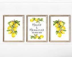 Lemon Kitchen Decor Etsy