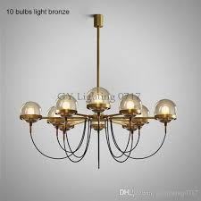 nordic postmodern 5 8 10 lights designer chandelier lighting modern restaurant glass ball bronze chandeliers living room res ball pendant light