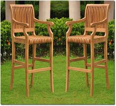 outdoor wooden chairs with arms. Bamboo Furniture Grade A Teak Wood Outdoor Patio Garden Arm Captain Bar Chair 500x457 10 Comfortable And Wooden Chairs With Arms I