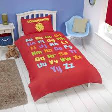 bed time learning duvet cover set