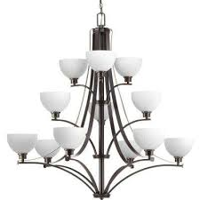 legend collection 12 light antique bronze chandelier with sculpted glass