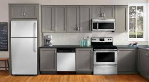 painted kitchen cabinets with white appliances. Kitchen Cabinet Color Ideas With White Appliances Beautiful Brown Painted Cabinets L