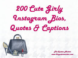 Instagram Bio Quotes Mesmerizing 48 Cute Girly Instagram Bios Quotes Captions