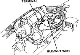 engine bay starter kill diagram of honda acura starter