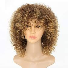 new arrive blonde curly wigs for women s fashion hair extensions ombre color afro curly wig hairstyle look same with human hair wig brown ombre to