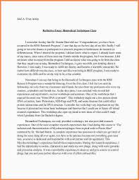 sample of reflection essay okl mindsprout co sample of reflection essay