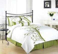 chezmoi collection 7 pieces green tree on white queen comforter set winter branches duvet cover birds